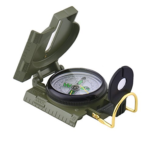 - Foldable Lensatic Military Compass For Easy Map Navigation