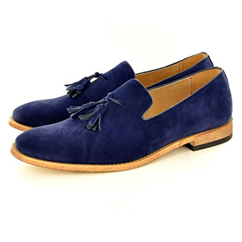 Blu foderato Pair uomo Navy Suede nappa slip My mocassini Da Perfect Blu on in pelle scarpe xOYqxAfRBw