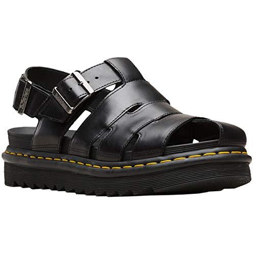 Dr.Martens Mens ABEL Leather Black Sandals 9 US]()