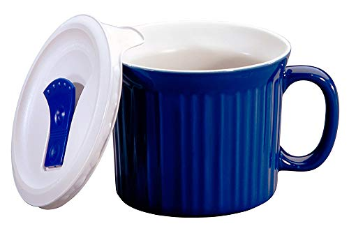 CorningWare 20-Ounce Meal Mug with Vented Lid (Blueberry) (With Oz Soup Handle 20 Mugs)