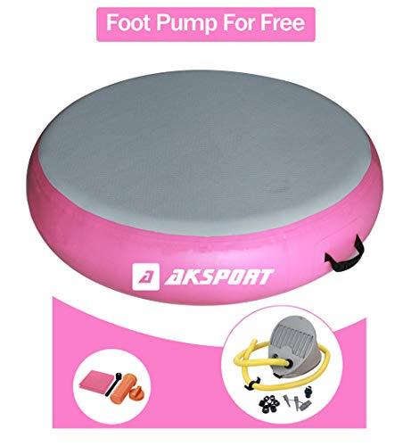 AKSPORT Airtrack Airspot Round Air Floor Air Track Gymnatsics Tumble Track Mat for Gym Training Dia 0.7m /1m/ 1.4m