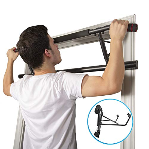 Ollieroo Pull Up Bars Doorway Chin Up Over Door Pull Up Bar Total Upper Body Workout Bar Pull Up Bar Strength Training Bars Multi-Grip Trainer Workout for Home Gym