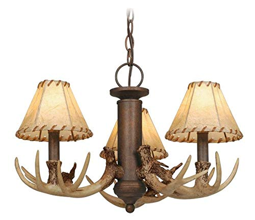 Vaxcel LK33053WP Lodge - Three Light Kit, Weathered Patina Finish with Fabric ()