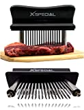 XSpecial Meat Tenderizer Tool - TRY IT NOW,Taste The Tenderness or REFUNDED ⭐ Kitchen Gadget Tenderizers 48 Blades Stainless Steel Needle = Best For Tenderizing,BBQ,Marinade & Flavor Maximizer