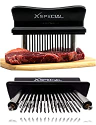 Xspecial Meat Tenderizer Tool Try It Now Taste The Tenderness Or Refunded ⭐ Kitchen Gadget Tenderizers 48 Blades Stainless Steel Needle Best For Tenderizing Bbq Marinade Flavor Maximizer