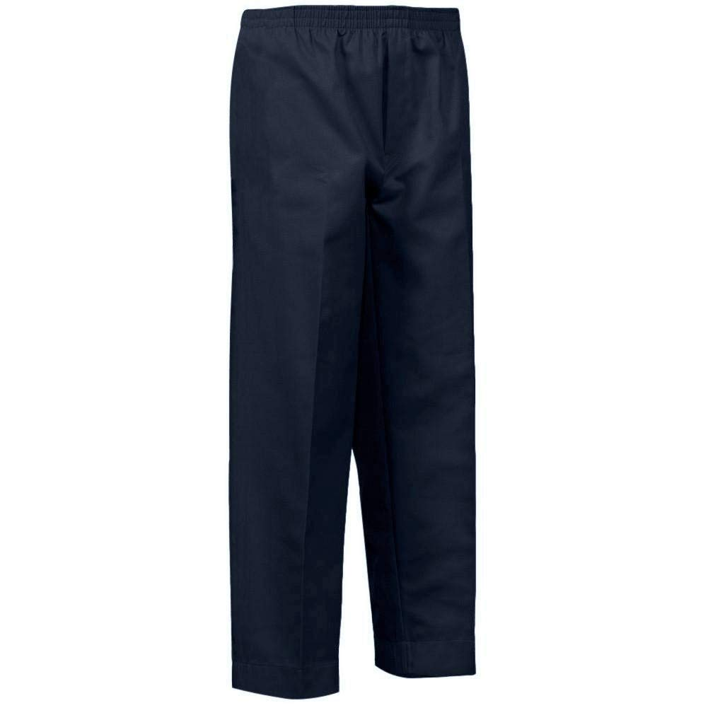 34bf2007c3db71 Amazon.com: Benefit Wear Mens Full Elastic Waist Pull-On Pants with Mock  Fly (3X, Navy): Health & Personal Care
