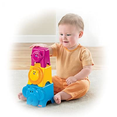 Fisher-Price Growing Baby Animal Stack & Nest Blocks: Toys & Games