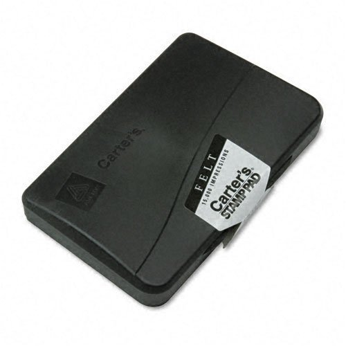 Carter`s : Felt Stamp Pad, 4.25w x 2.75d, Uninked -:- Sold as 2 Packs of - 1 - / - Total of 2 Each