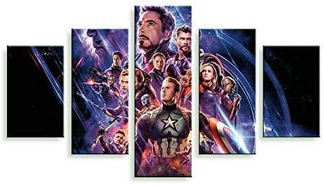 Iron Man Marvel Avengers Supervillian 5 Piece Multi Panel Canvas Wall Art Print