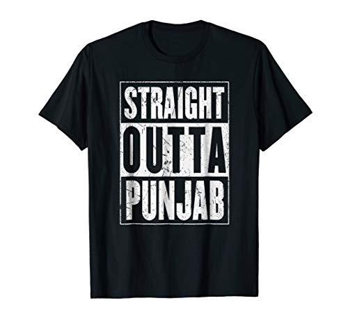 Straight Outta Punjab Shirt Punjab India Shirt Distressed (Punjabi Best Shayari Ever)