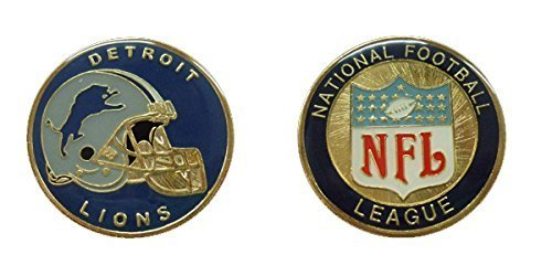 Detroit Lions Coin Card - Lions Collectible Challenge Coin- Logo Poker - Lucky Chip