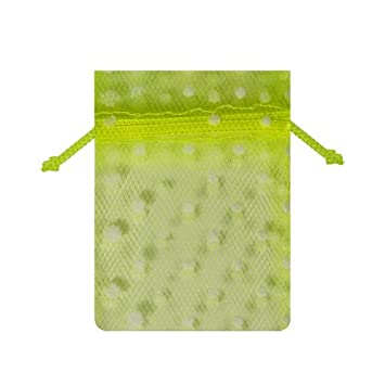 Amazon.com: Menta W/blanco Swiss Dot tul bolsas 3 x 4 ...