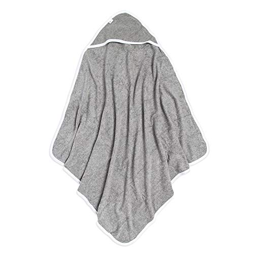 Burt's Bees Baby® Organic Cotton Hooded Towel - Heather Gray