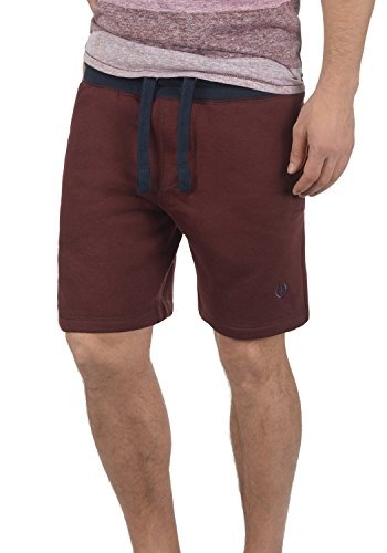 Shorts Benni Uomo Pantaloncini 0985 solid Felpa Da Red Wine Pantaloni Corti qa4tZ