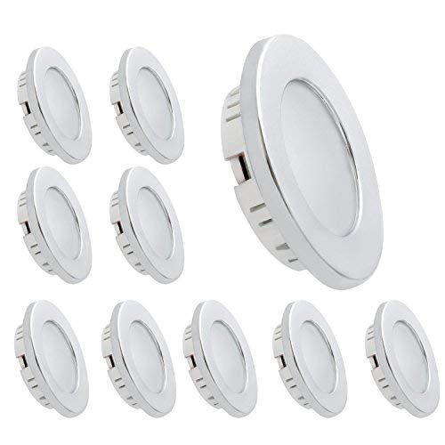 (Dream Lighting LED Recessed Ceiling Light 3.5W Cool White Silver Pack of 10)