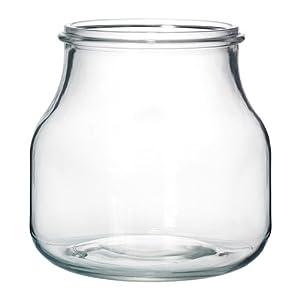 ikea ensidig vase clear glass 16 cm kitchen home. Black Bedroom Furniture Sets. Home Design Ideas