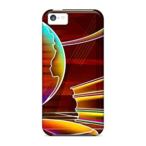 Hot WjY1746HgAH Case Cover Protector For Iphone 5c- 3d Neon Colorful 20