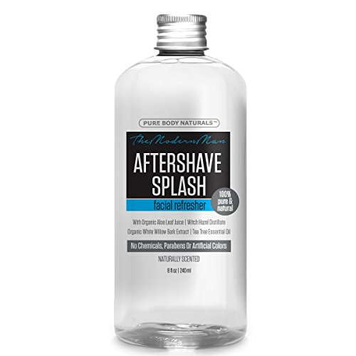 Pure Body Naturals Aftershave Splash with Organic Aloe, Witc...