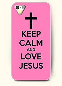 KEEP CALM AND LOVE JESUS-iPhone 5/5s/5g Back Plastic Case by runtopwell