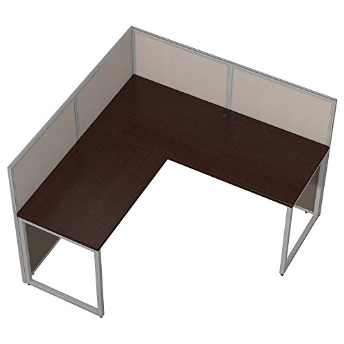 Bush Business Furniture Easy Office 60W L Shaped Desk Open Office in Mocha Cherry by Bush Business Furniture (Image #3)'