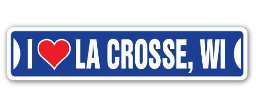 I Love LA Crosse, Wisconsin Aluminum Street Sign wi for sale  Delivered anywhere in USA