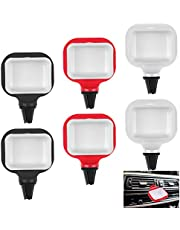 Adasea 6 Pcs Sauce Holder for Car, in-car Mini Dip Sauce Holder Mini Car Sauce Cup Holder Dip Clip in-car Sauce Cup for Vents of Vehicle