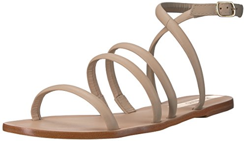 Leather Diamantina Strappy KAANAS Women's Sandal Flat Beige CpqwHUwt