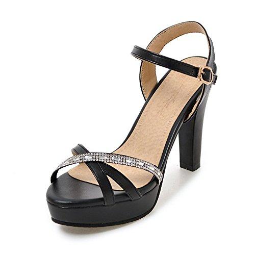 Easemax Femmes Mode Peep Toe Strass Talons Hauts Plate-forme Boucle Sandales  À Bride À. chaussures ... 938ebcf76be