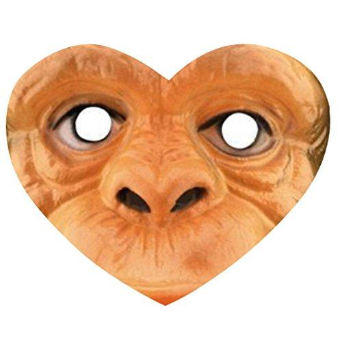 Cartoon monkey mask child mask Heart-shaped Mousepad
