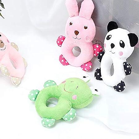 Cupcinu Juguete de Peluche para Mascotas de morder Juguete para Perros y Gatos con Sonido Juguete Molar educativos para Mascota Mu/ñeca Cachorro Conejo Panda Cerdo Rana Rosa Claro