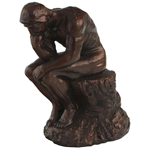 (Cultural Element Thinker Statue by Rodin with Bronze Finish | Master Piece | Show Piece | Indoor Placements | Sculptures | Represent Philosophy | Home Decors | 11.5 Inches)