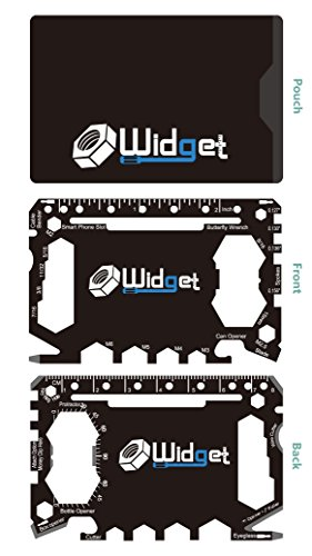 Multi purpose survival Pocket tool - 43 in 1 - credit card wallet size Ninja Multitool (Black)