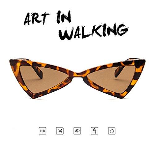 viaje ojo de de sol de mujer gato sol diseño de para UV400 triángulo Gafas gafas de qawZxYZ0