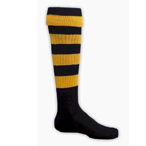Red Lion Hoop Rugby Striped Athletic Sports Knee High Socks