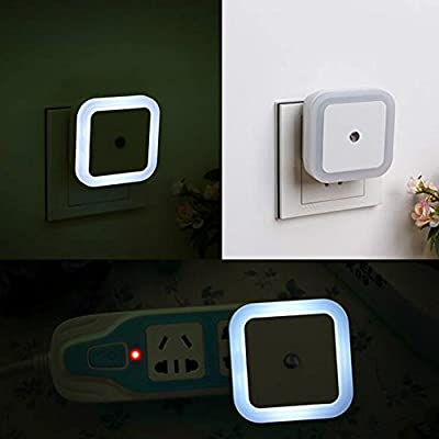 FlashWolves® 4 LED Night Light 0.5Watt Automatic Dusk to Dawn Sensor for Kid's Babies Room Corridor Indoor Christmas Festivals to Find a Way in Darkness White Blue Orange Pink