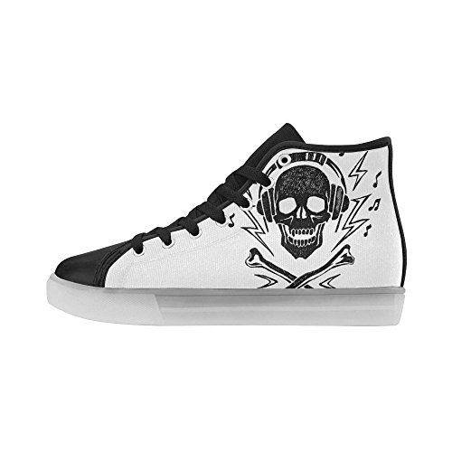 Interestprint Arcobaleno Illuminano Scarpe Da Donna Lampeggianti Sneakers Musicali Teschio