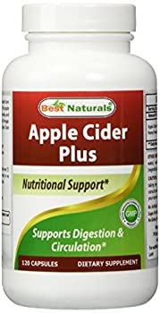 Best Naturals Apple Cider Vinegar Plus 500 Mg 120 Capsules - Vinegar Capsules for healthier digestion, cleanse body naturally