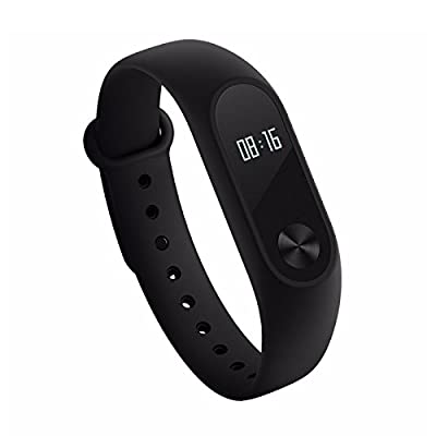 Xiaomi Mi Band 2 Miband 2 With OLED Display Wristband Bracelet Smart Heart Rate Fitness Tracker 20 Days Standby Time - Black Color (View amazon detail page)