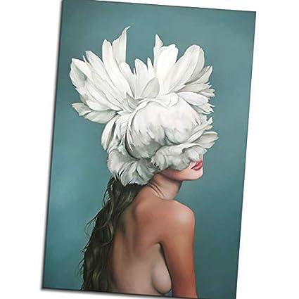 Amazon Com Miaomiaogo Women Feather Body Art Oil Painting Girls