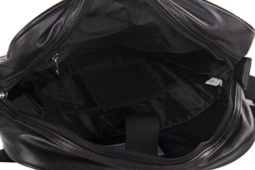 Tracolla uomo VESPA nero borsello multiscomparto VF235