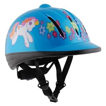 Casco infantil de seguridad para hípica, tallas desde XXS hasta L azul azul Talla: