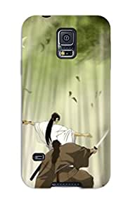New Style Case Cover ADkUHhW8927NEigU Trees Forest Birds Fighter Grass Bamboo Samuraiduel Kimono Anime Sunbeams Swords Warriors Compatible With Galaxy S5 Protection Case