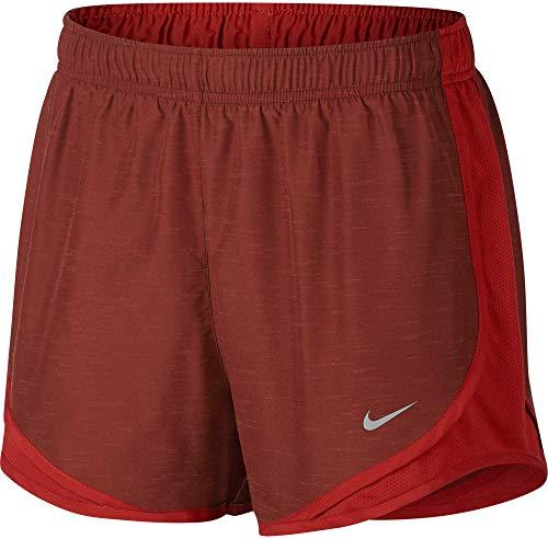 Nike Women's 3'' Dry Tempo Heatherized Running Shorts (Dune Red Heather, Medium)