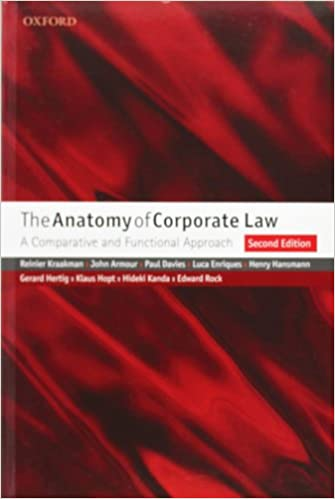 Book The Anatomy of Corporate Law: A Comparative and Functional Approach