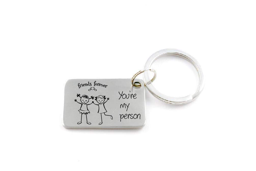 Personalised Keyring Friendship Gift  /'Friends are like stars/' Photo Insert