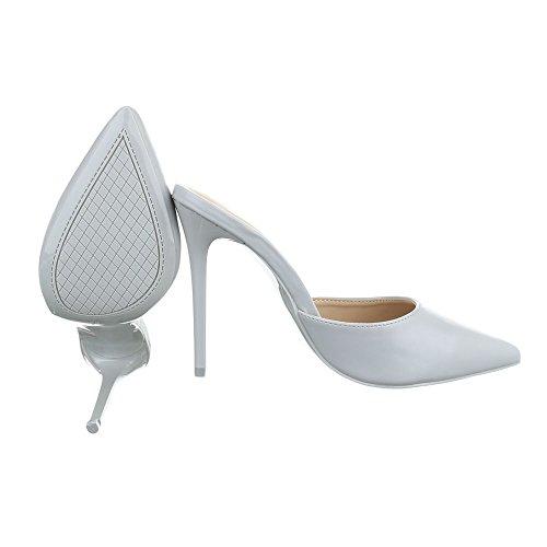 Ital-Design - Plataforma Mujer gris claro