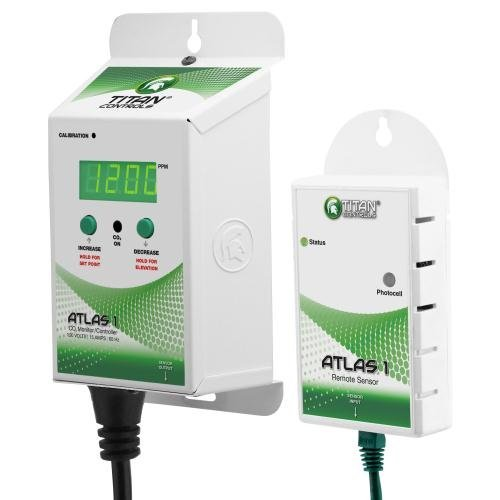 Titan Controls 702615 Atlas 1 Carbon Dioxide Gas Monitor and Controller by Titan Controls
