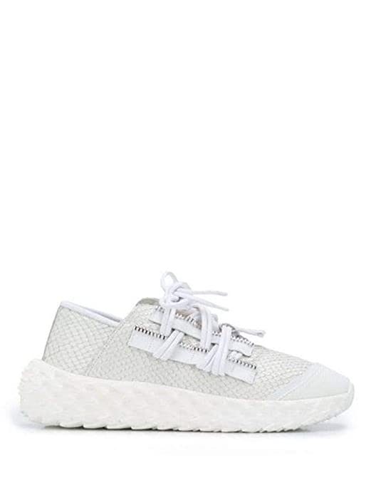 4126d6b6686f Amazon.com  Giuseppe Zanotti Design Women s RS90067001 White Leather  Sneakers  Shoes
