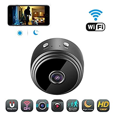AMDISI Spy Camera Wireless Hidden WiFi Camera, HD 1080P Mini Camera Portable Home Security Cameras Covert Nanny Cam Indoor Video Recorder Small Camcorder with Motion ActivatedNight Vision A10 Plus from AMDISI
