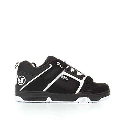 DVS, Chaussures de Skateboard Pour Homme Noir Black White Nubuck